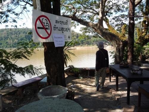 メコン河沿いのレストラン