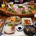 神子の民宿の夕食