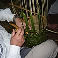 竹かご作り
