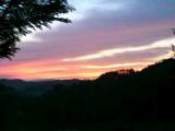 山荘から見た夕焼け